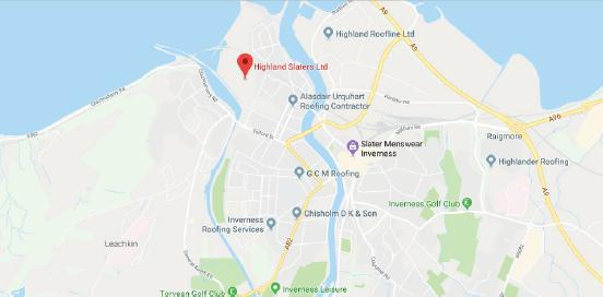 Highland Slaters Location